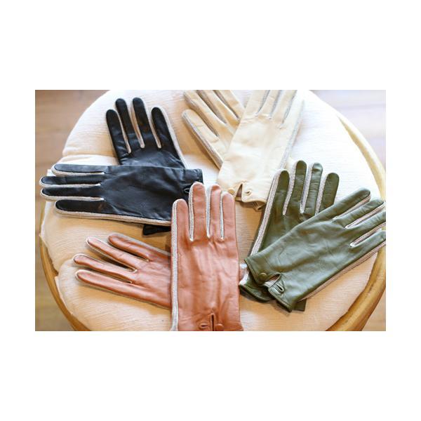 【激安セール】サイドニット・レザーグローブ(革手袋)(返品・交換・ギフト包装不可) curicolle