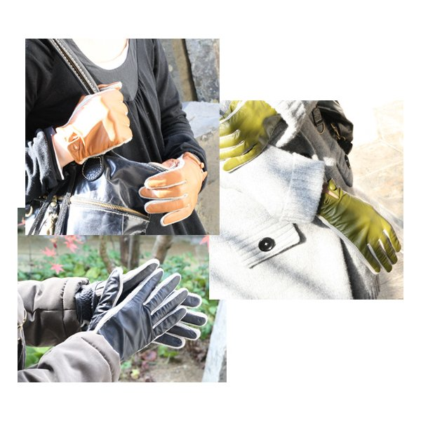 【激安セール】サイドニット・レザーグローブ(革手袋)(返品・交換・ギフト包装不可) curicolle 02