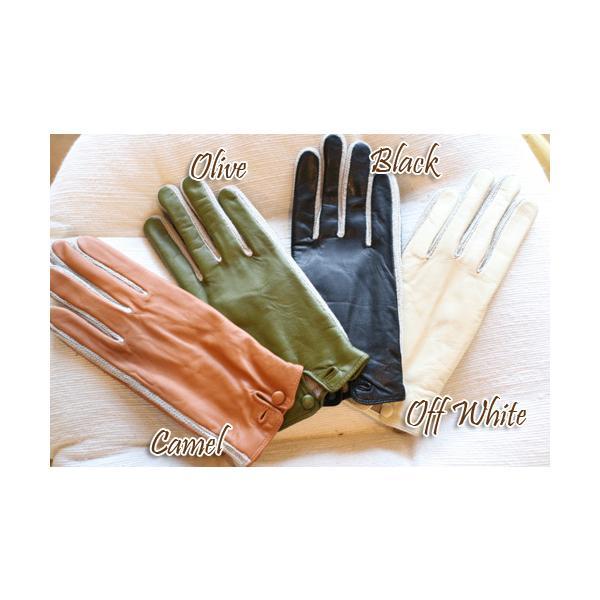 【激安セール】サイドニット・レザーグローブ(革手袋)(返品・交換・ギフト包装不可) curicolle 04