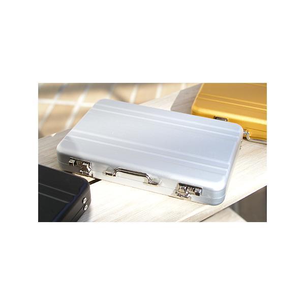 ☆3個まで郵送OK☆アルミアタッシュケースデザイン!カードケース(名刺入れ)♪カラー:シルバー(返品・交換・ギフト包装不可)|curicolle|02