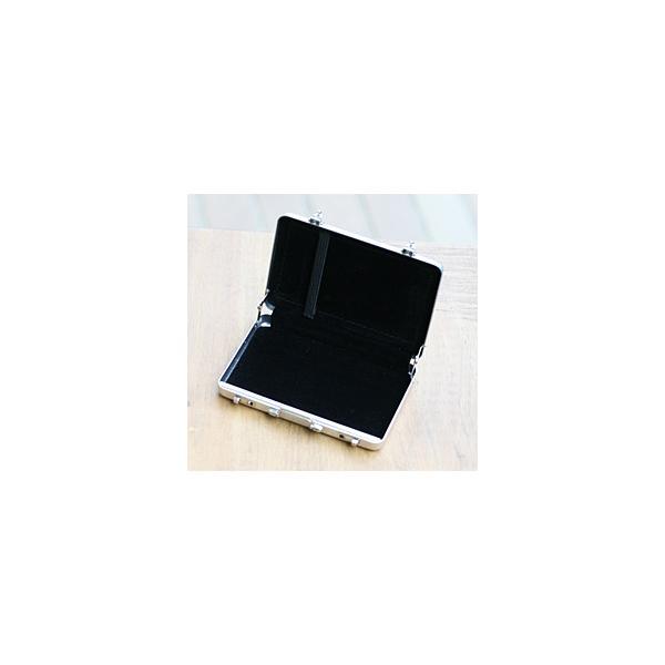 ☆3個まで郵送OK☆アルミアタッシュケースデザイン!カードケース(名刺入れ)♪カラー:シルバー(返品・交換・ギフト包装不可)|curicolle|04