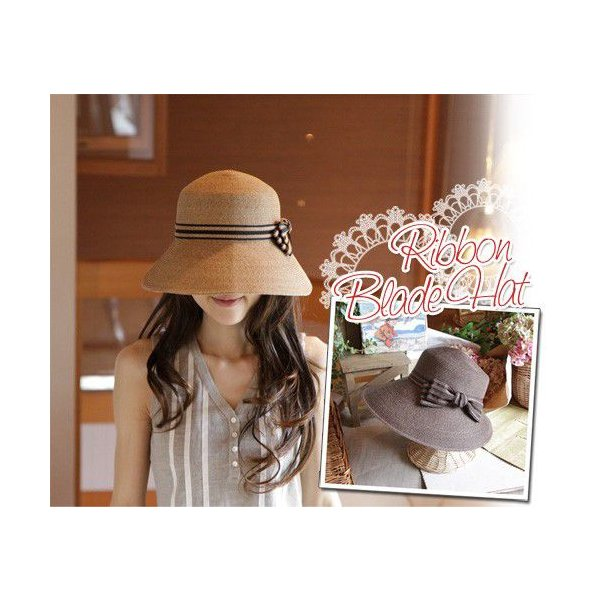 ボーダーリボン・キャベリン・ハット(帽子)|curicolle
