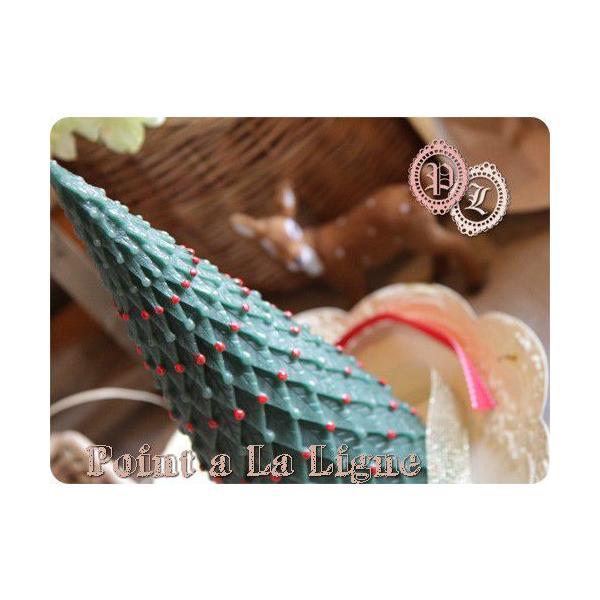 クリスマスツリー キャンドルS(ポワンタラリーニュのインテリアキャンドル)(返品 交換 ギフト包装不可)|curicolle