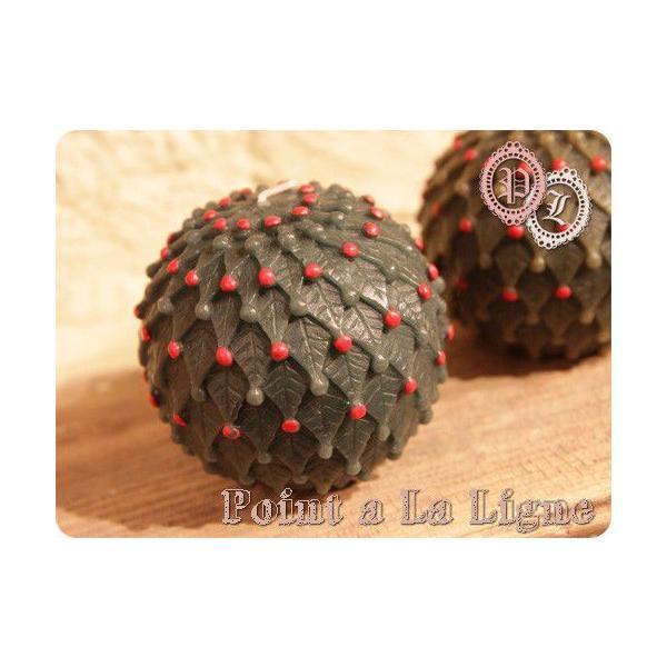 クリスマスツリー ボールキャンドル(ポワンタラリーニュのインテリアキャンドル)(返品 交換 ギフト包装不可)|curicolle
