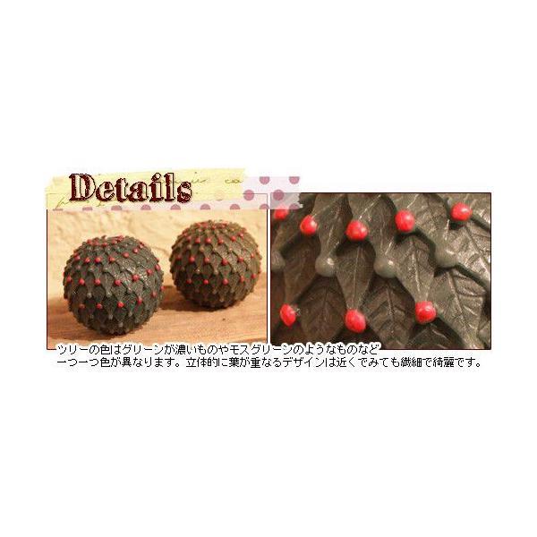 クリスマスツリー ボールキャンドル(ポワンタラリーニュのインテリアキャンドル)(返品 交換 ギフト包装不可)|curicolle|02