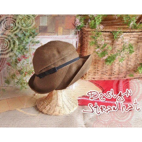 アシンメトリー・ストローハット(デザイン麦わら帽子・婦人帽子/レディースクロッシェ)|curicolle