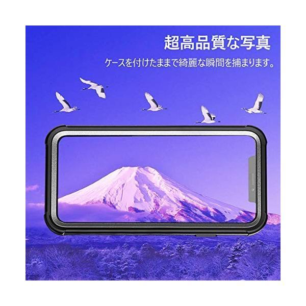 AMZKEY iPhone XR ケース耐衝撃 360°全方向保護 ワイヤレス充電対応 フェイスID認証対応 レンズ保護 両面ケース 超軽量 薄型 透|curiobazaaar|06