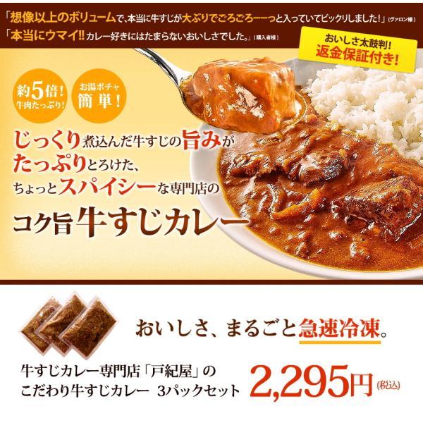 じっくり煮込んだ牛すじの旨みがたっぷりとろけた、ちょっとスパイシーなコク旨カレー!牛すじカレー専門店「戸紀屋」のこだわり牛すじカレー 3パックセット curry-tokiya 02