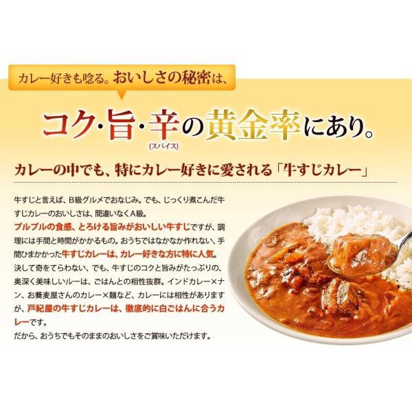 じっくり煮込んだ牛すじの旨みがたっぷりとろけた、ちょっとスパイシーなコク旨カレー!牛すじカレー専門店「戸紀屋」のこだわり牛すじカレー 3パックセット curry-tokiya 03