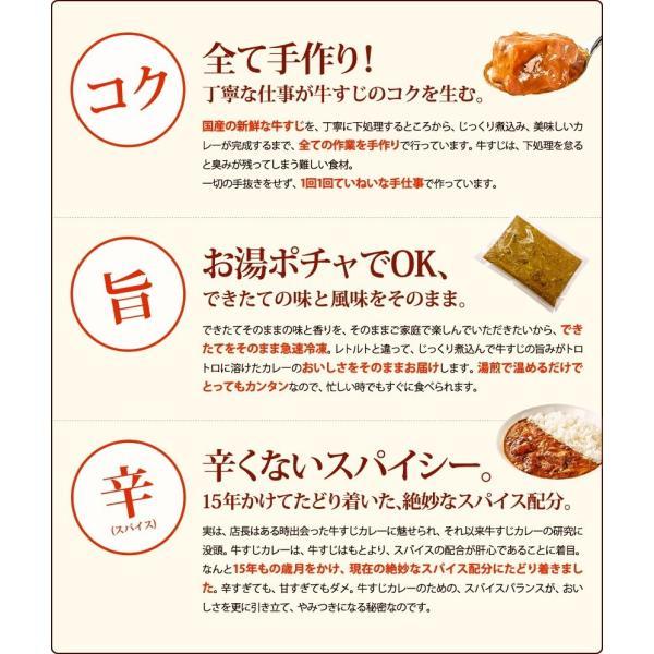 じっくり煮込んだ牛すじの旨みがたっぷりとろけた、ちょっとスパイシーなコク旨カレー!牛すじカレー専門店「戸紀屋」のこだわり牛すじカレー 3パックセット curry-tokiya 04