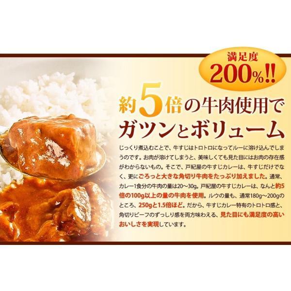 じっくり煮込んだ牛すじの旨みがたっぷりとろけた、ちょっとスパイシーなコク旨カレー!牛すじカレー専門店「戸紀屋」のこだわり牛すじカレー 3パックセット curry-tokiya 05