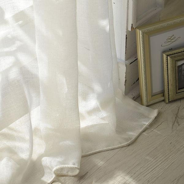 RoomClip商品情報 - プレミアムリネン Premium linen(IV)|トルコレース カフェカーテン オーダーサイズ(1枚) シンプル 無地 ボイルレース ウォッシャブル