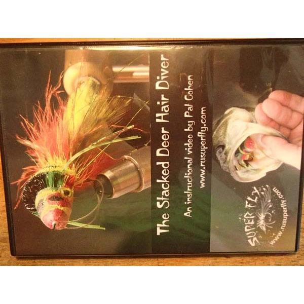バスバグのタイイングDVD The Stacked Deer Hair Diver スーパーフライ 基礎編|curtiscreek