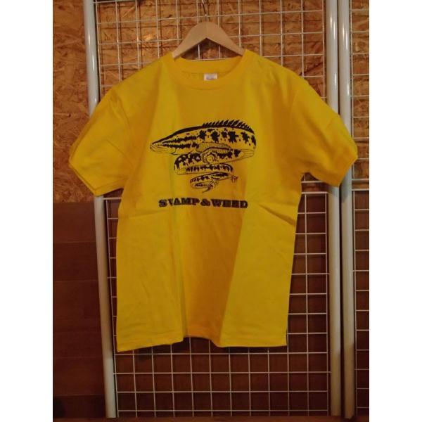 当店オリジナル スワンプ&ウィードTシャツ サイズM / 日本サイズ イエロー ライギョアングラーへ! curtiscreek