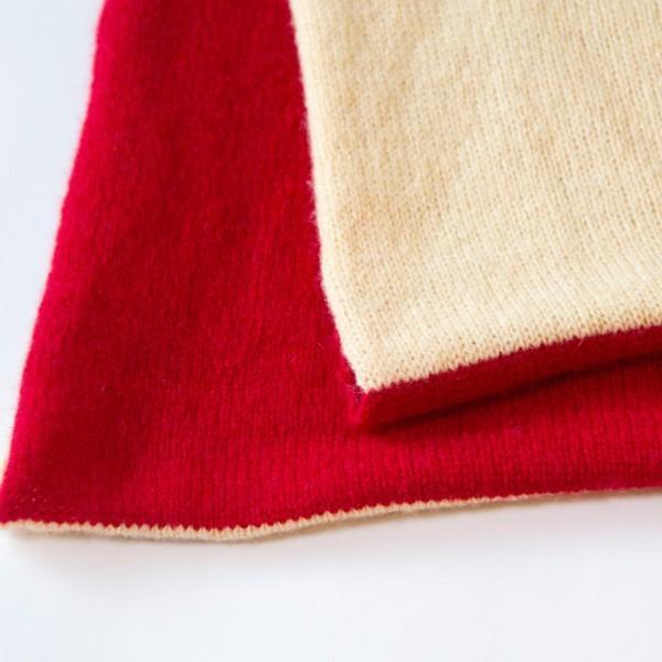 ふんわり極上のカシミヤ100%2配色大判スヌード 男女兼用 カラー:19色|cus|05