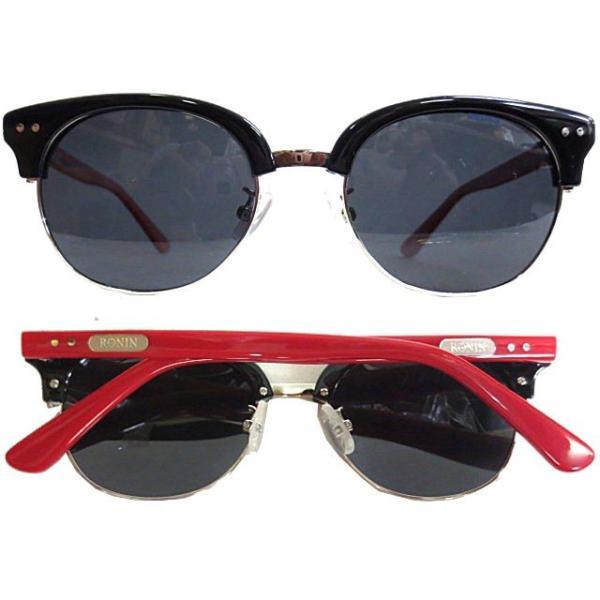 Ronin Eyewear ( ロニンアイウェアー ) 50/50 赤テンプルフレーム グレーポーラレンズ ( スケートボード スケボー サーフィン ステッカー サングラス ロニンアイ|cutback2
