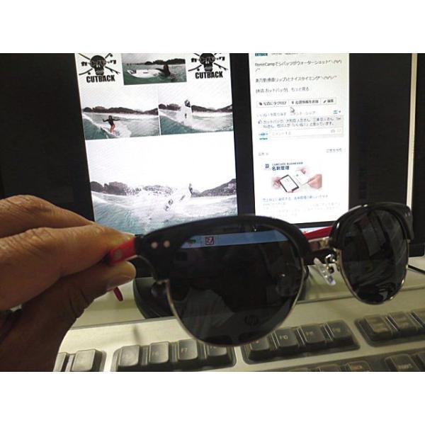 Ronin Eyewear ( ロニンアイウェアー ) 50/50 赤テンプルフレーム グレーポーラレンズ ( スケートボード スケボー サーフィン ステッカー サングラス ロニンアイ|cutback2|05