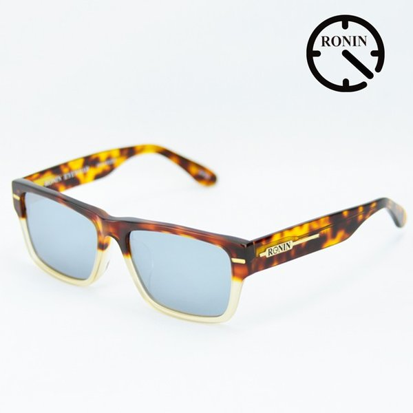 <title>ロニン 至上 サングラスRonin Eyewear ロニンアイウェアー UVカット FLASH Amber Clear Two tone color Silver Mirror Polarized Lens</title>