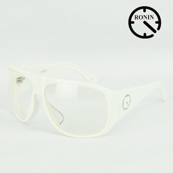 ロニン サングラスRonin Eyewear ロニンアイウェアー UVカット Prototype O.T.W OFF THE WALL Shine White/Clear Lens|cutback2