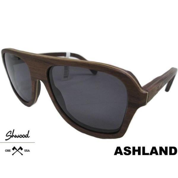 <title>SHWOOD シュウッド ASHLAND フレーム素材:WALNUT レンズ:GREY スケートボード スケート SK8 木製 Shades セットアップ サングラス</title>