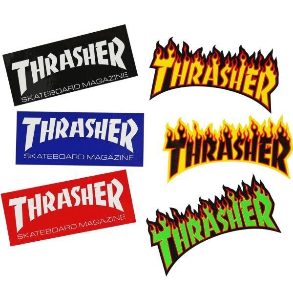 Thrasher スラッシャー ステッカー Various Sticker Magazine Flame スケートボード スケボー マガジン フレイム シール