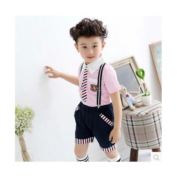2ca19476d7b67 ... イギリス風子供半袖ワンピース幼稚園服団体服ポロシャツフォーマルショートパンツ 男の子女の子ジュニア