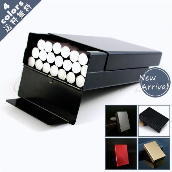 アルミ製タバコケース メンズ ポーチ タバコ入れ メタル シガレットケース 20本収納 軽量 小物 カバー ビジネス 父の日 ギフト プレゼント おしゃれ 送料無料