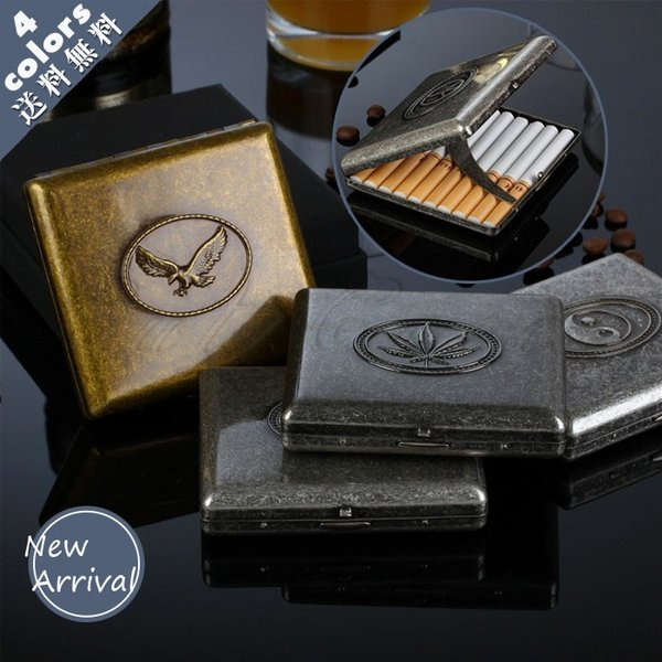タバコケース シガレットケース 20本収納 メンズ メタル レトロ タバコ入れ ポーチ ビジネス 軽量 小物 父の日 ギフト プレゼント おしゃれ 送料無料