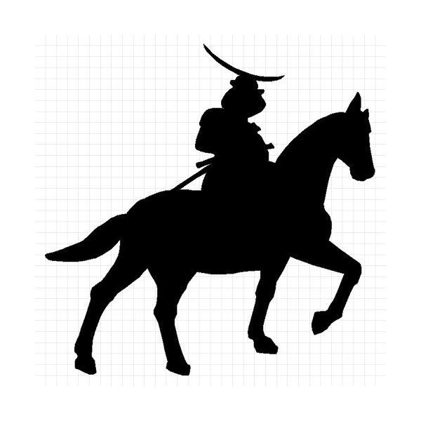 伊達政宗 騎馬 ステッカー cuttingsoul 02