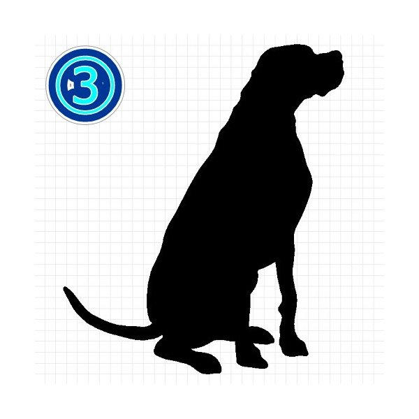 イングリッシュポインター 犬 シルエット ステッカー プレゼント付|cuttingsoul|04