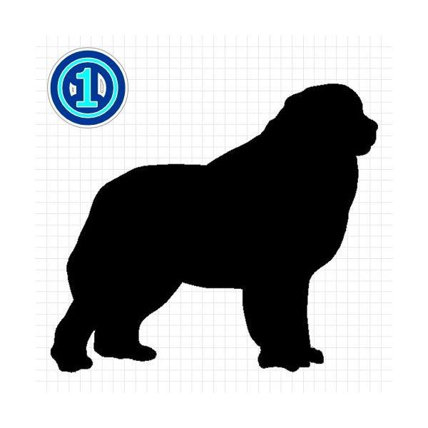 グレートピレニーズ 犬 シルエット ステッカー プレゼント付|cuttingsoul|02
