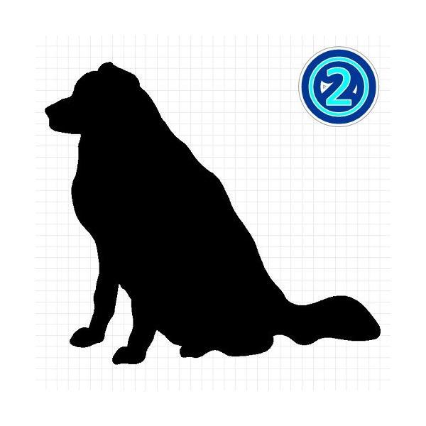 グレートピレニーズ 犬 シルエット ステッカー プレゼント付|cuttingsoul|03