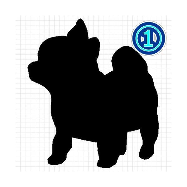チワワ 犬 シルエット ステッカー プレゼント付|cuttingsoul|02