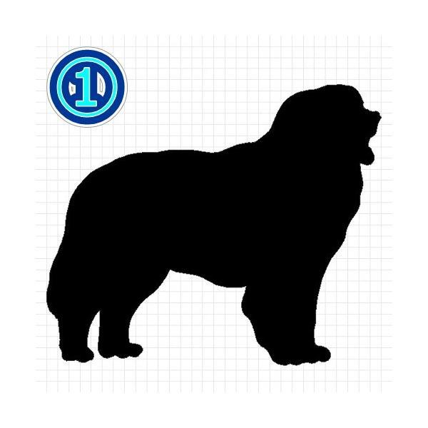 バーニーズマウンテンドッグ 犬 シルエット ステッカー プレゼント付 cuttingsoul 02