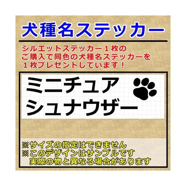 ミニチュアシュナウザー 犬 シルエット ステッカー プレゼント付 cuttingsoul 04