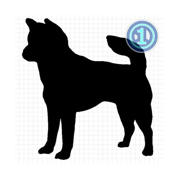 紀州犬 シルエット ステッカー プレゼント付|cuttingsoul|02