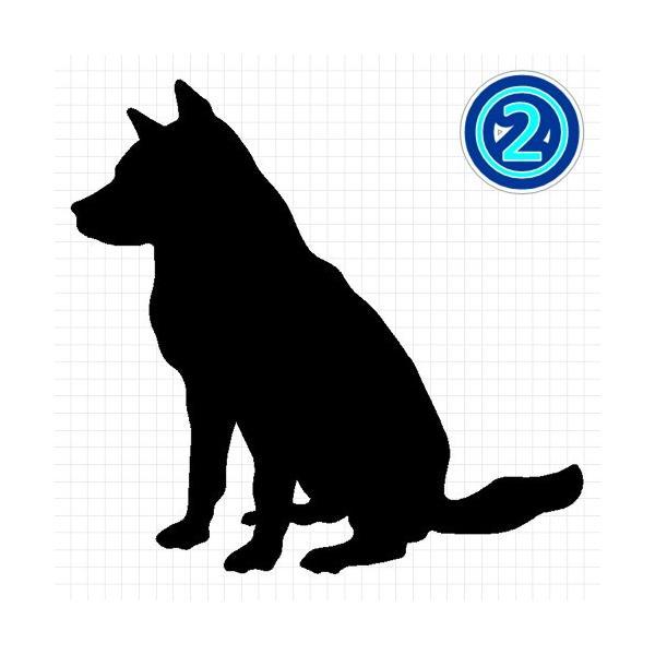 紀州犬 シルエット ステッカー プレゼント付|cuttingsoul|03