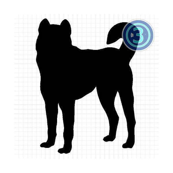 紀州犬 シルエット ステッカー プレゼント付|cuttingsoul|04