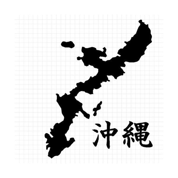 沖縄 地図 ステッカー|cuttingsoul|02