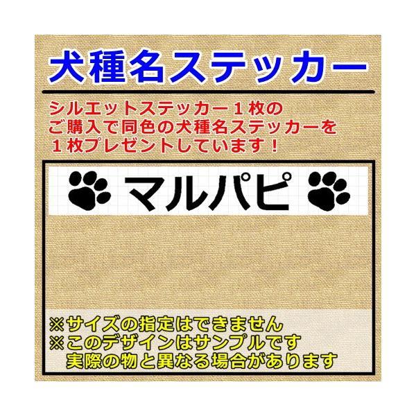 マルパピ 犬 シルエット ステッカー プレゼント付|cuttingsoul|02