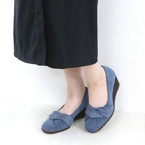 パンプス スクエアトゥ ラインストーン レディース 女性用 軽い ブランド クロールバリエ COULEUR VARIE No.874252