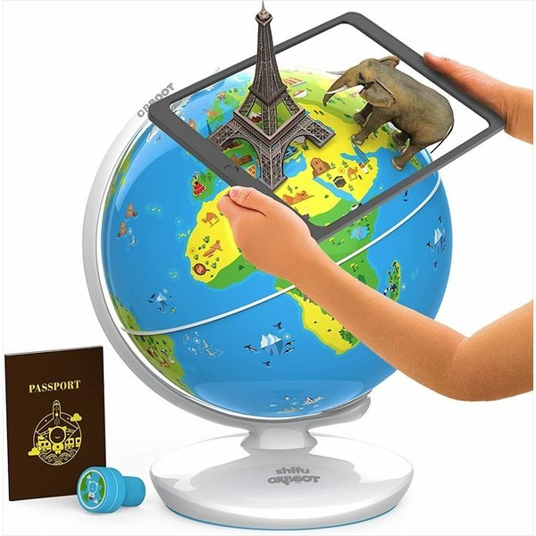 3Dで学べる 知育地球儀 Shifu Orboot 地球儀 図鑑 クリスマスプレゼントに最適 世界各国の特徴や文化が楽しみながら学習できる 立体表示|cybermall4