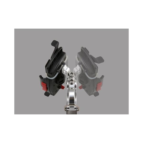 《あすつく》 ミノウラ×デイトナ 92602 スマートフォンホルダー IH-250D 《ワイド クイック》 スマホ ナビ スタンド ツーリング DAYTONA MINOURA|cycle-world|03