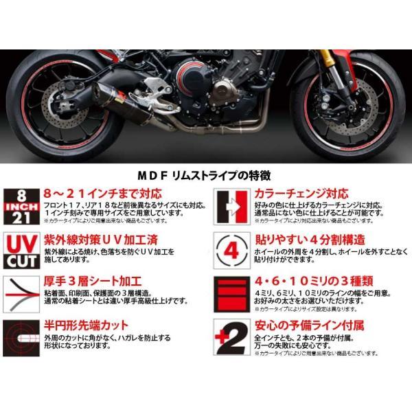 【MDF】トリコローレリムストライプ 《全4種》 イタリアン リムステッカー エムディーエフ タイヤ ホイール ホイル オートバイ 二輪 バイク用品|cycle-world|03