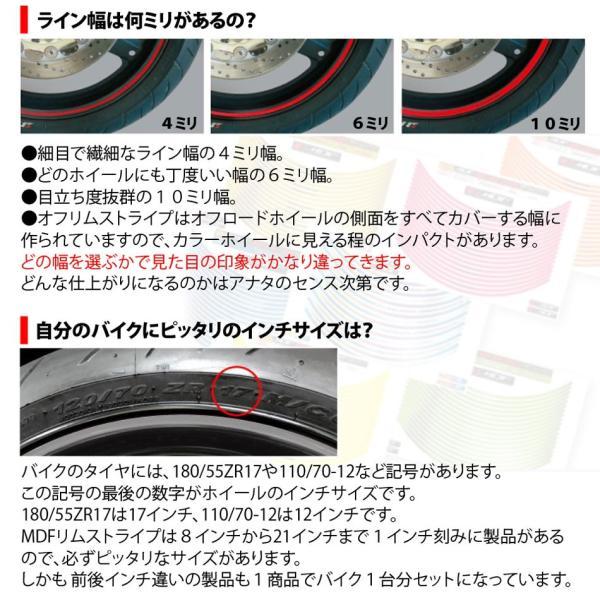 【MDF】トリコローレリムストライプ 《全4種》 イタリアン リムステッカー エムディーエフ タイヤ ホイール ホイル オートバイ 二輪 バイク用品|cycle-world|05