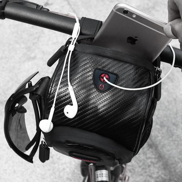 フロントバッグ サイクルフロントバッグ ハンドルバーバッグ 防水 自転車 ロードバイク 3WAY 送料無料 Rhino/LS091|cyclingnet|05