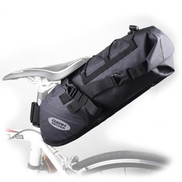 大容量 完全防水 サドルバッグ 簡単脱着 6L ロードバイク クロスバイク スポーツバイク オススメ 送料無料 OSAH KRSR-001|cyclingnet