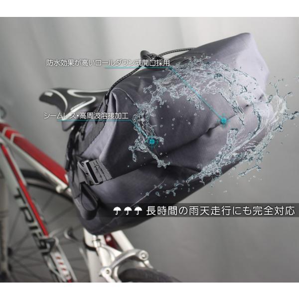 大容量 完全防水 サドルバッグ 簡単脱着 6L ロードバイク クロスバイク スポーツバイク オススメ 送料無料 OSAH KRSR-001|cyclingnet|03