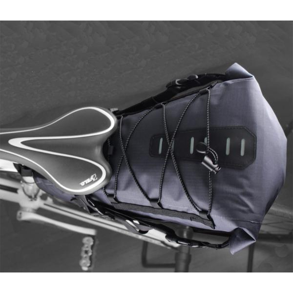 大容量 完全防水 サドルバッグ 簡単脱着 6L ロードバイク クロスバイク スポーツバイク オススメ 送料無料 OSAH KRSR-001|cyclingnet|05