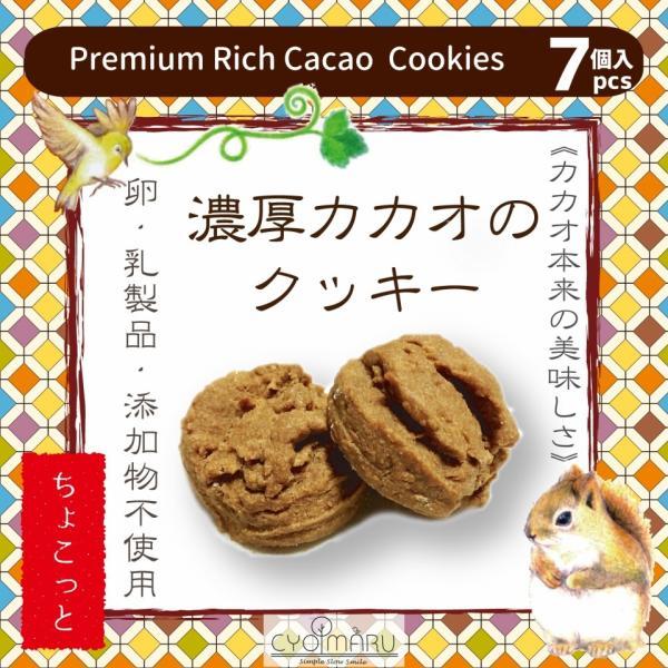 無添加クッキーちょこっと【濃厚カカオのクッキー】7個入《動物パッケージ》|cyoimaru